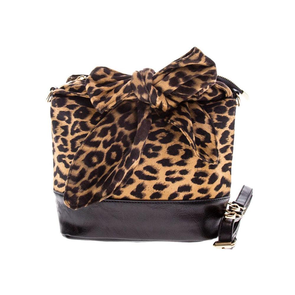 0532435e1 Bolsa Feminina Tiracolo Onça com Lenço Fixo de Amarrar - bauarte